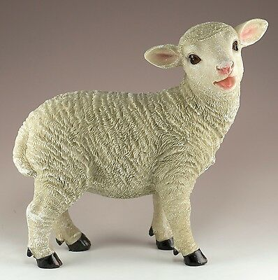 Sheep Ewe Figurine 7.5 Inch High Resin Highly Detailed New In Box