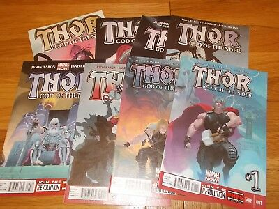 Marvel  Comics  Thor God Of Thunder 1-8 Complete Run