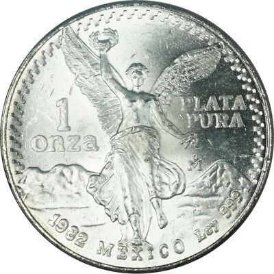 1982 Mexico Libertad Silver Onza - BU (Stock Photo)