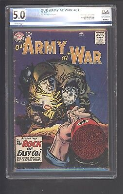 Our Army at War #81 Apr 1959, DC Sgt Rock of Easy prototype PGX 5.0 Not CGC CBCS