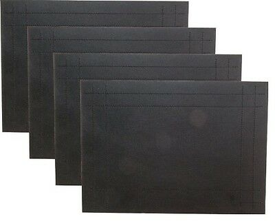 Rayware Placemats Faux Leather Set Of 4 Black Serveware Kitchen Home New