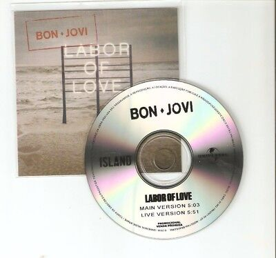 Bon Jovi - Labor Of Love - Rare Brazilian Two Track Cd Promo
