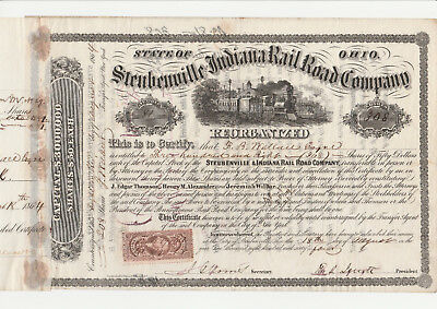 Steubenville and Indiana RR Co. Reorganized 1864 s/w