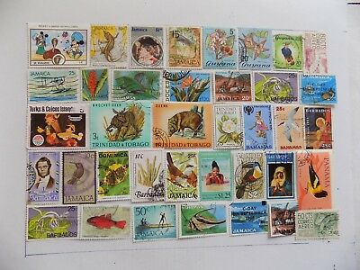 Latin American Collection of stamps off paper all  Commem..-9-25