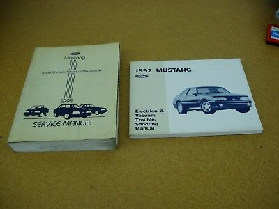1992 ford mustang shop service dealer repair electrical wiring manual