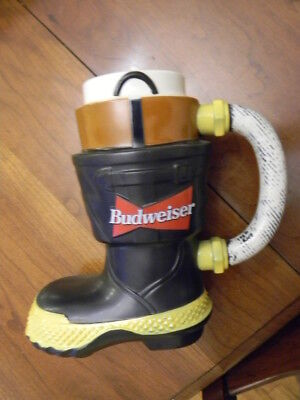 Budweiser Beer Boot Stein Salutes Fire Fighters 1st in Series 1997 CS321