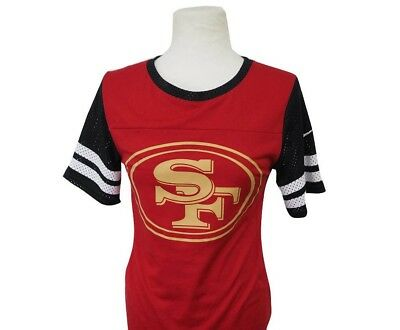 Nike Women's Modern Fan Gear Up NFL 49ers XS Red Black White Gold NFL Top