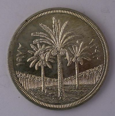 1972 Iraq DINAR KM-127 SILVER DOLLAR coin