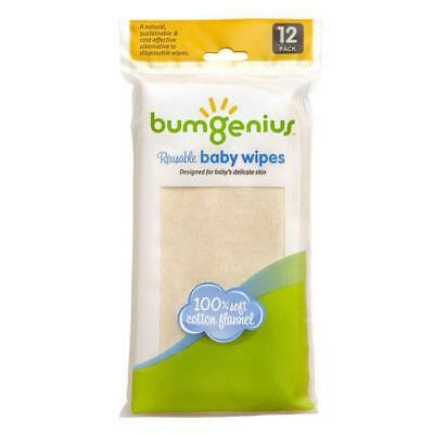 BumGenius Flannel wipes 12 pack
