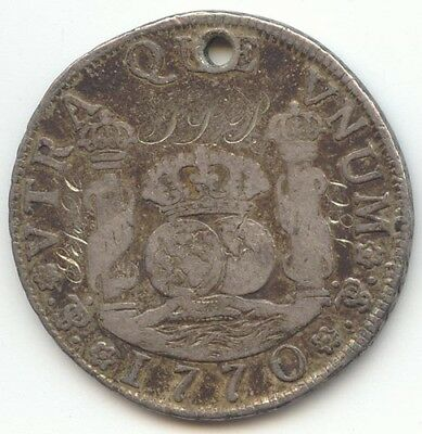 Bolivia, Potosi, 1770 4 Reales, VF Details, Engraved, Love Token, True Auction
