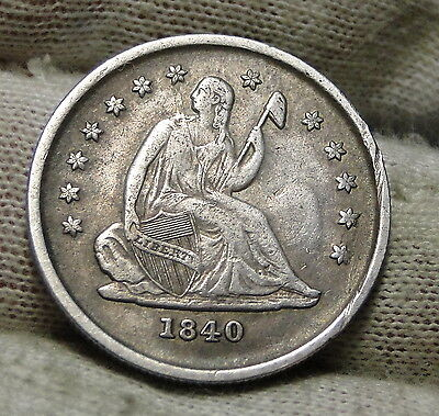 1840-O Seated Liberty Quarter 25C Key Date Only 425,200 Minted..Nice Coin (5397)