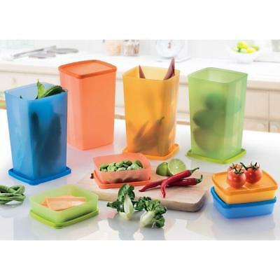 Tupperware Large Square Round 2L (4) and Shallow Square Round 250ml (4)