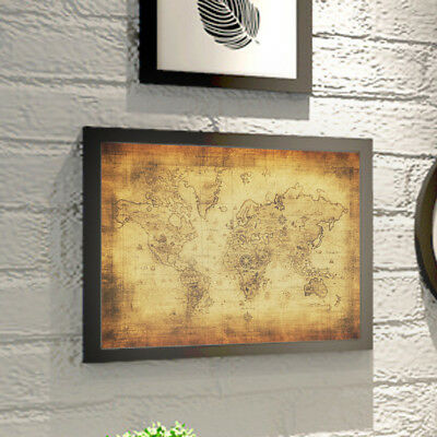Large Vintage Style Retro Paper Poster Globe Old World Map Gifts Hot