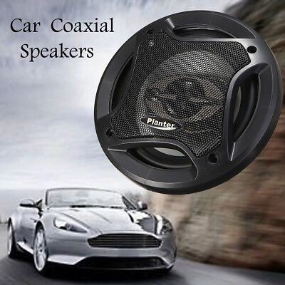 2x Durable 6.5'' Car Audio Coaxial Speakers Stereo 90dB 400W 4 Way Subwoofer