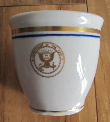Shenango Dept of the Navy Mess-US Navy Seal Blue Gold-Single Egg Cup(s)-12 Avail