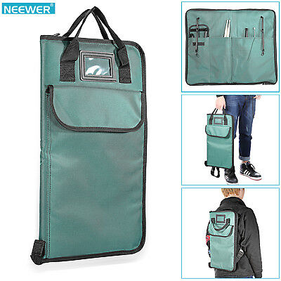 """Neewer 19"""" * 11"""" Cyan Padded Nylon Drumstick Bag with Carry Handles"""