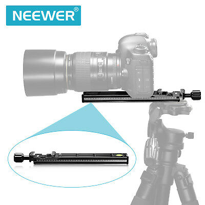 Neewer 200 mm Pro Rail Nodal Slide Metal Quick Release Clamp with Arca Swiss