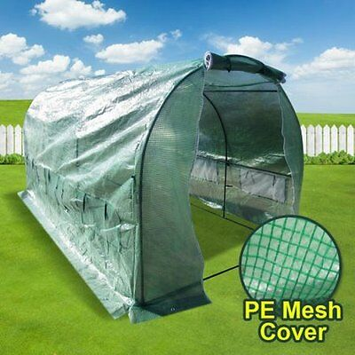 NEW 3m Extra Large Metal Frame Arch Roof Garden Greenhouse Shed with Mesh Cover