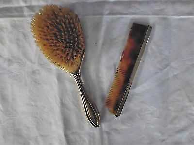 800 Silver Brush & Comb Set, 370760