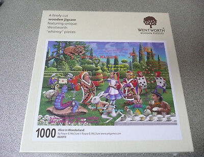 Wentworth Wooden Puzzle -Alice In Wonderland - 1000 Piece- Brand New And Sealed