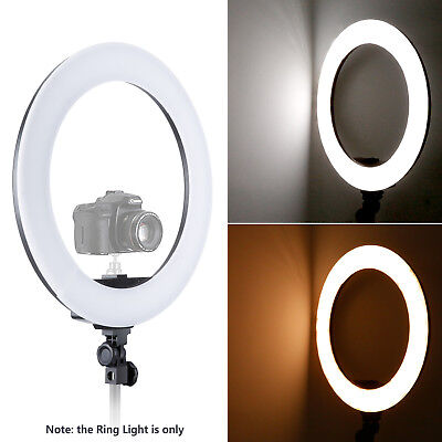 Neewer 18 Zoll Bi-Farbe Dimmbare LED Ring Licht Set mit LCD Anzeige