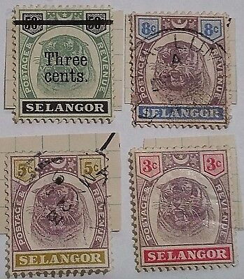 Selangor   Tiger Stamps/had Been Mounted  ... ..worldwide Stamps
