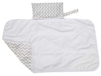 1 Large Diaper Changing Mat Pad Foldable Travel Portable Bag 30inx18.5in Chevron
