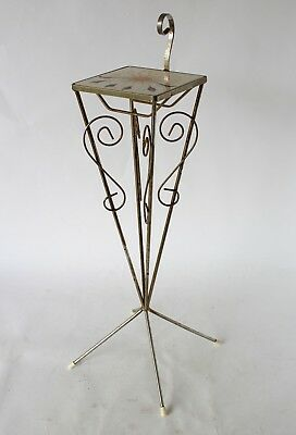 Vintage Retro 60s/70s SMOKERS/PLANT STAND Side Table ITALIAN TILE TOP Atomic