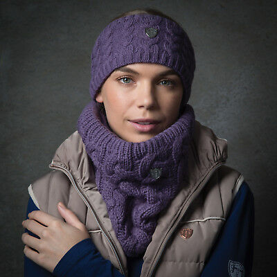 Equetech Cable Knit Headband One Size in 4 Colours + Worldwide Shipping