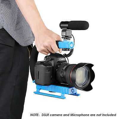 Neewer Blue C-Shape Versatile Stabilizing Action Handle Bracket for DV Camcorder