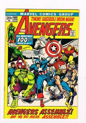 Avengers # 100  Avengers Assemble Barry Smith grade 6.5 scarce book !!