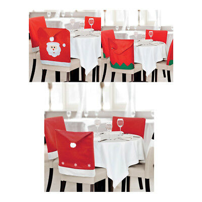 Superb 8 Pack Christmas Dining Chair Covers Santa Face Bobble Hat Squirreltailoven Fun Painted Chair Ideas Images Squirreltailovenorg