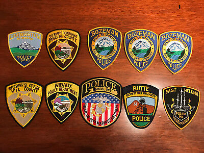 70 Police Patch Patches Sheriff Collection State Montana Lot Brand New!!!!