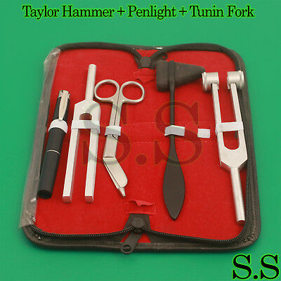 Tactical Black - Set of 5 pcs Reflex Percussion Taylor Hammer + Penlight + Tunin