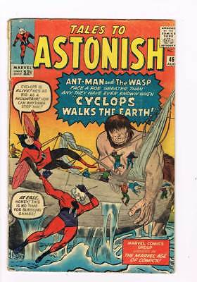 Tales to Astonish # 46  Cyclops walks the Earth ! Antman grade 3.0 scarce book !
