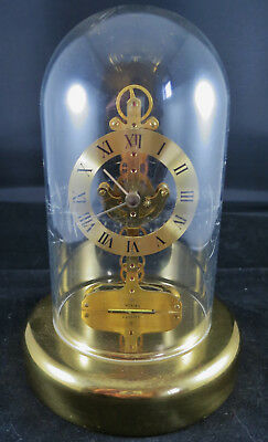 Vintage Estyma Dome Skeleton Clock (Battery Powered Cogs)