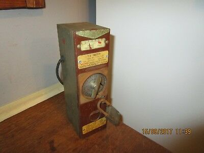 Vintage 1960s / 70s era Smiths Coin meter / Smiths TV Switch Coin operated meter
