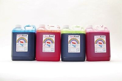 Classikool 4 x 2.5L (2500ml) Slush Puppy Syrup 6/7:1 Mix 78 Flavours & 8 Colours