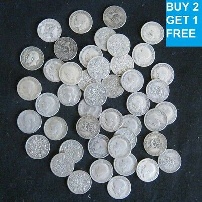 1920 To 1936 George V Silver Sixpences Choice Of Year / Date