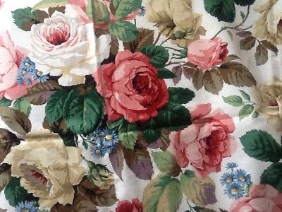 BEAUTIFUL VINTAGE SANDERSON CHELSEA FABRIC OVER 3.94m 100% COTTON UNUSED