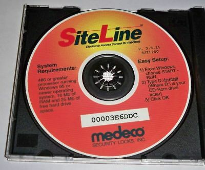 Medeco Security Locks SiteLine Electronic Access Control CD software