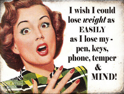 Lose Weight : Funny Retro Vintage Metal Sign Home Decor: Kitchen:gift