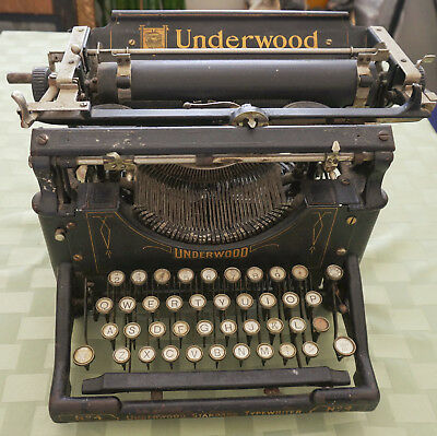 Lovely 1903 Antique Underwood Standard No: 4 Typewriter