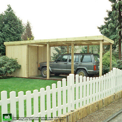 carport 4x5 m holz bausatz 11 11 cm st tzen schneelast. Black Bedroom Furniture Sets. Home Design Ideas