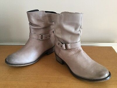 NEW Ladies Gorgeous Soft Beige Leather Ankle Boots, NEXT, UK Size 5