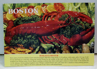 Boiled Maine Lobster Recipe Postcard
