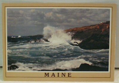 Maine America Vacationland Summer Water Autumn Colors Maine Postcard