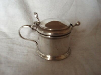 Mustard Pot & Spoon Sterling Silver Birmingham 1946