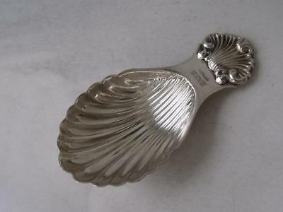 Solid Sterling Silver Shell Bowl Caddy Spoon 1967/ L 8 cm
