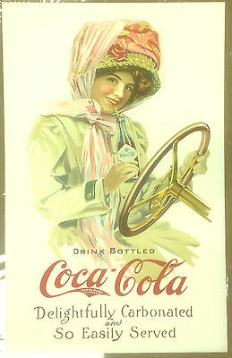 1910 Design Coca Cola Large Fine Art Print Motor Duster Girl Limited Ed 50 Coke